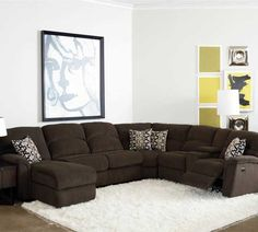 Lane Grand Torino Casual Four Piece Power Sectional Sofa w/ Full Sleeper and Drink Console - Howell Furniture - Reclining Sectional Sofa Beaumont, Port Arthur, Lake Charles, Texas, Louisiana Furniture, Sofa Furniture, Sofa Design, Howell Furniture, Sectional, Sectional Sleeper Sofa, Contemporary Sectional Sofa, Sofa Bed Design, Sofa Decor