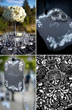 Elegant Black & White Wedding From Fleurs de France & A Dream Wedding | Style Me Pretty