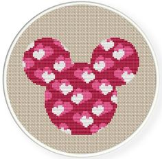 Instant Download,Free shipping,Counted Cross stitch pattern,Cross-Stitch PDF,cloth pattern,cute heart mice,zxxc0357: