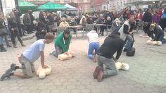 Erste-Hilfe-Flashmob beim Stadtfest in Korneuburg. www.stadtfest-korneuburg.at