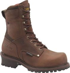 "Men's Carolina 9"" Broad Toe Ins. WP Logger - Dark Red Brown"