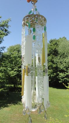 """In the Garden my Soul is Sunshine"" ~ Stained Glass Windchime"