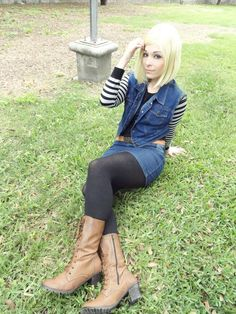 New Age of Dignity - Android 18 Android 18 Cosplay by: Daireth Winehouse Photography by: Killian Pitt We hope you can see the full gallery on: DeviantAr. Cosplay Outfits, Cosplay Girls, Cosplay Costumes, Android 18 Cosplay, Facebook Android, Female Cartoon Characters, Popular Cartoons, Stockings Legs, Manga