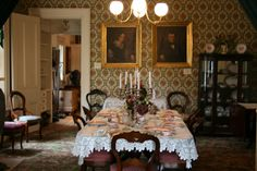 Slifer House Museum Collection - Victorian Dining Room