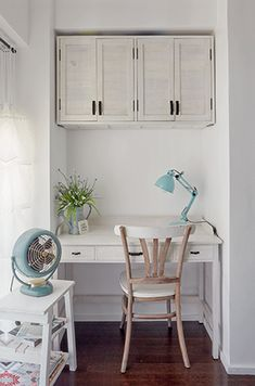 Filled with DIY details and customized pieces, this quaint one-bedroom condo brings labor of love to a whole new level Condo Interior Design, Condo Design, Apartment Design, Interior Decorating, Small Condo Decorating, Studio Condo, Condo Bedroom, Apartment Plans, French Country