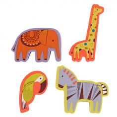 Safari Park animal erasers