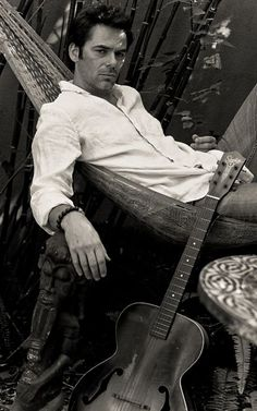 Billy Burke in a hammock in his backyard (Tao Ruspoli photoshoot, June Billy Burke Actor, Most Beautiful Man, Beautiful People, Gorgeous Men, Revolution Tv Show, Charlie Swan, Mermaid Stories, Billie Burke, Sports Personality