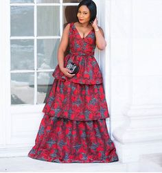 Unique Ankara Maxi Style: Feel The Beauty Of Different Styles And Designs Of The Ankara Fabric - Ankara collections brings the latest high street fashion online African Maxi Dresses, Ankara Dress, African Attire, African Wear, Ankara Fabric, African Style, Afro, Style Africain, Maxi Styles