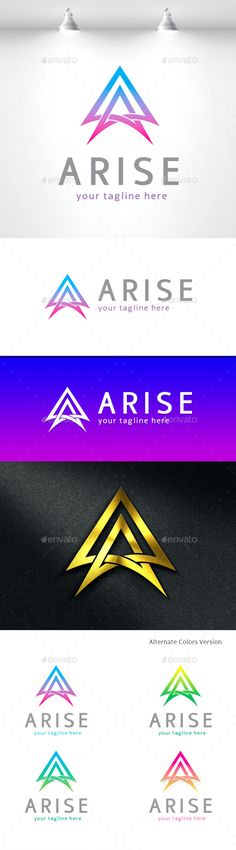 Arise Letter A - Logo Design Template Vector #logotype Download it here: http://graphicriver.net/item/arise-letter-a-logo/11455091?s_rank=860?ref=nexion