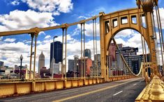 Pittsburgh Wallpapers: Clemente Bridge, PNC Park - iPad, iPhone, Android Wallpaper - photo by Zach Frailey
