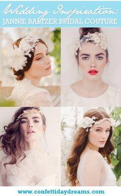 Jannie Baltzer 2014 Bridal Headpiece Collection. love the birds nest one