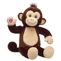 Go bananas! This lovable monkey is all smiles! Smiley Monkey can be personalized with clothing and accessories to make a huggable gift they'll go wild for. Red Gift Box, Blue Gift, We Bear, Baby Sewing Projects, Build A Bear, Partys, Pet Gifts, Birthday Fun, Smiley