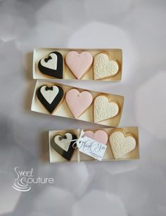 Bride and Groom heart wedding favours.