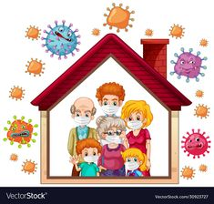 Stay home to prevent coronavirus vector image on VectorStock Kindergarten Activities, Classroom Activities, Classroom Decor, Activities For Kids, Bullet Journal For Kids, Hand Washing Poster, Health And Safety Poster, Gold Wallpaper Background, Logos Retro