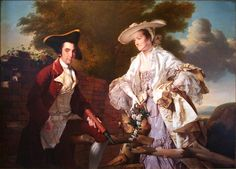 Joseph Wright of Derby: Peter Perez Burdett and his First Wife Hannah. 1765.