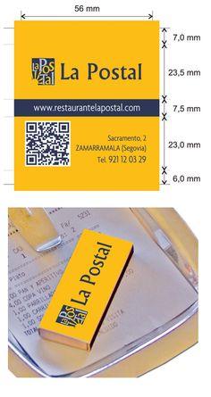 Propuesta Caja de Cerillas para Restaurante La Postal en Segovia.