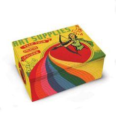 Art Supplies Tin Cigar Box – Hi Sweetheart