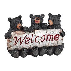 Design Toscano Black Bear Cubs Welcome Statue - QL58013
