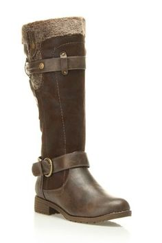 Westwood Tatum Faux Fur Trimmed Boot In Brown - Beyond the Rack