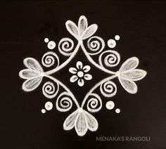 Easy And Cute Rangoli Design Rangoli Side Designs, Simple Rangoli Border Designs, Easy Rangoli Designs Diwali, Rangoli Simple, Rangoli Designs Latest, Free Hand Rangoli Design, Small Rangoli Design, Rangoli Designs With Dots, Beautiful Rangoli Designs