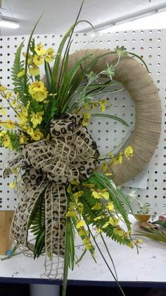 Wrapped burlap everyday wreath by kyong
