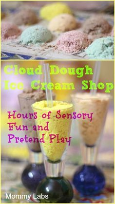 Cloud Dough Ice Cream Parlor - Sensory Fun and Pretend Play: Play and Learning are Inseparable