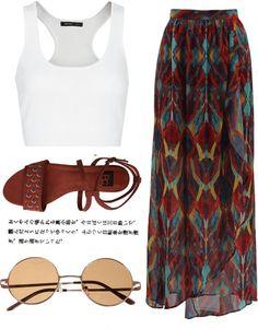 Maxi skirt,outfit summer