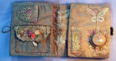 delightful array of huswifs from several artists - - The world's first online magazine for Crazy Quilting - Article Sewing Case, Sewing Box, Sewing Kits, Needle Book, Needle Case, Quilting Projects, Sewing Projects, Vintage Sewing Notions, Silk Ribbon Embroidery
