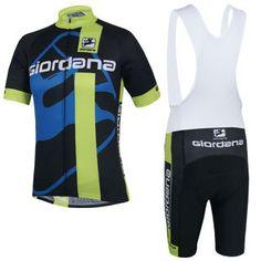 Купить товар2015 Giordana одежда для велоспорта с pro зеленый велоспорт джерси 100% полиэстер и велосипедные шорты гель колодки в категории Майки спортивныена AliExpress.