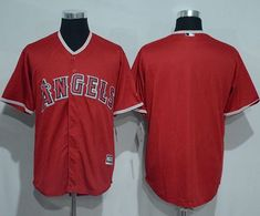 Angels of Anaheim Blank Red New Cool Base Stitched MLB Jersey