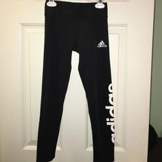 Adidas Youth Girls leggings YOUTH/girls size 7/8 leggings. never worn. made of polyester and spandex Adidas Pants Leggings