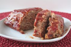 A simple yet delicious turkey meatloaf glazed in a sweet BBQ sauce! Meatloaf Recipes, Meat Recipes, Snack Recipes, Cooking Recipes, Healthy Recipes, Healthy Habits, Dinner Recipes, Ground Turkey Meatloaf