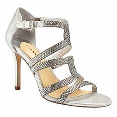 Gianni Bini Silver Jewel Sandals
