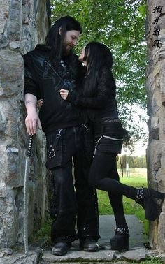 Hello I'm Auburn Coil this is my husband Mitchel. He's a tattoo artist and I'm a drama teacher. We're very care free and free thinking we'll encourage our kids to be the same. We get called out because we are fifth gen goths. Its odd but yes its in our blood we have two bio kids Lazarus (3) and Belladonna (1)