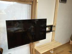Diy Tv Wall Mount, Wall Mounted Tv, Flat Screen, Wood, Blood Plasma, Woodwind Instrument, Timber Wood, Wall Mount Tv Stand, Flatscreen