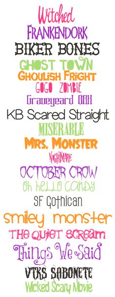 Some spooky cute fonts for Halloween - from the Southern Serenity Designs Blog.  Aren't these fonts just amazing! Just the thing to add a little bit of character to your layouts.