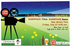 New Belgium Brewing turns Gas Works Park into a movie theater on Friday, July 27, 2012, featuring their craft beer on tap, along with short films from independent filmmakers.