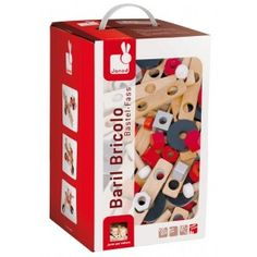 100 pieces of imagination in a barrel! Use the suggestions in the box or create your own vehicles, rockets and spaceships. Great fun for a large age group, the DIY Barrel will be used in the playroom for years!   All Janod toys are designed in France and manufactured to strict quality and safety standards, meeting both European and Australian requirements.