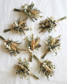 A sweet boutonniere of wheat, lavender, oregano, and assorted dried blooms. This listing is for ONE boutonniere. Two bout pins included. We recommend placing orders in advance by including your event date in the notes at checkout. Floral Wedding, Fall Wedding, Wedding Colors, Wedding Bouquets, Rustic Wedding, Our Wedding, Wedding Flowers, French Wedding, Elegant Wedding