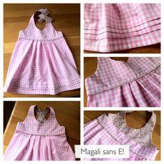 Mademoiselle Sunday - Magali sans E ! Vichy Rose, Kids Dress Wear, Madame, Frocks, Cami, Summer Dresses, Bridesmaids, How To Wear, Sunday