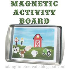 Keep those kids busy on a road trip (or anywhere) with a magnetic activity board. A cookie sheet and magnets is all you really need, but the possibilities are endless!