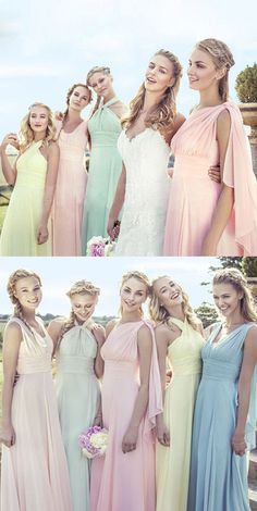 Simple Cheap Junior Young Girls Chiffon Different Colors Long Formal Bridesmaid Dresses,,Bridesmaid Gown ,WGY0157#bridesmaid dress#
