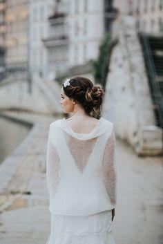 tole de marie snood de marie tricot pour mariage maille mohair accessoire - Etole Cachemire Mariage