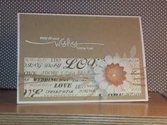 Eine schlichte Karte zur Hochzeit