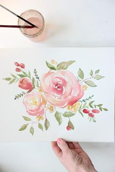 Custom Watercolor Florals You tell me what to paint I paint Watercolor Drawing, Watercolor Rose, Watercolor Cards, Watercolor Illustration, Painting & Drawing, Watercolor Paintings, Watercolours, Watercolor Portraits, Watercolor Landscape