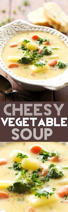Cheesy Vegetable Soup... This is one flavor packed soup that is hearty and delicious!