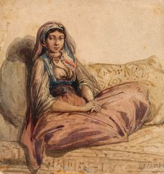 Alexandre-Gabriel Decamps   1803-1860   Seated Oriental Woman   The Morgan Library & Museum