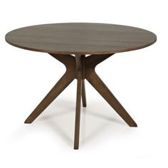 Walnut-Dining-Table-Round-Kitchen-Room-Stylish-Seats-4-Seater-Wood-Dinner
