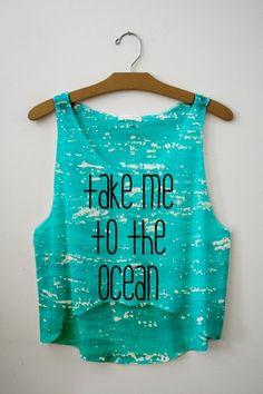Take me to the ocean turquoise tank