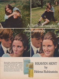 """""""Heaven Scent"""" fragrance ad, This was my fav as a teen Perfume Ad, First Perfume, Vintage Perfume, Old Advertisements, Free Advertising, Nostalgia, Makeup Ads, Funny Commercials, Beauty Ad"""